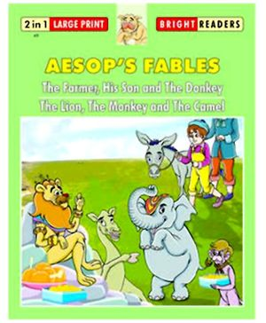 Shree Book Centre Aesops Fables The Farmer His Son and Donkey and Lion, Monkey and Camel