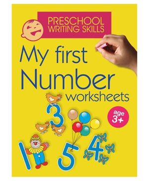 Shree Book Centre My First Number Worksheets - English