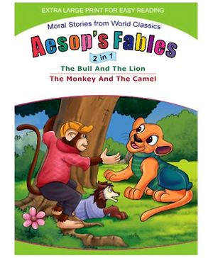 Shree Book Centre Aesops Fables 2 In 1 The Bull And The Lion The Monkey And The Camel - English