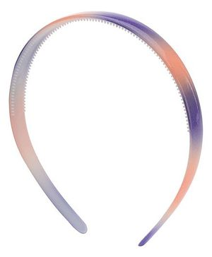 Stol'n Dual Colour Plain Hair Band - Purple And Orange