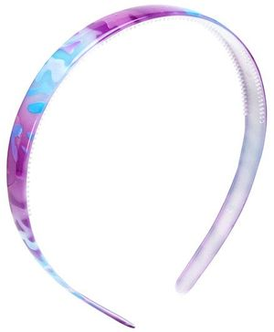 Stol'n Dual Colour Plain Hair Band - Purple And Blue