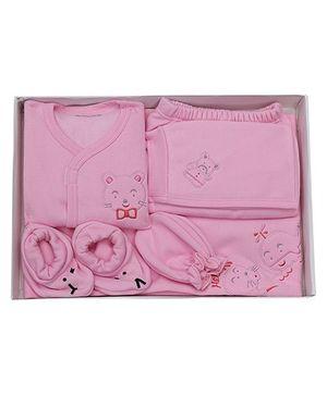 Child World Baby Clothing Gift Box Bear Design - Pink