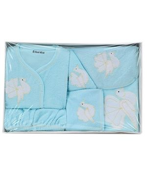 Child World Baby Clothing Gift Box Bird Design - Blue