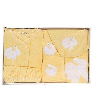 Child World Baby Clothing Gift Box Bird Design - Yellow