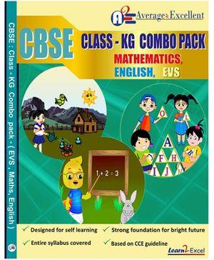 Average2excellent CBSE Class KG Combo Pack - English EVS Mathematics