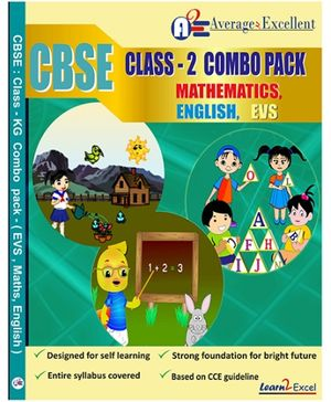 Average2excellent CBSE Class 2 Combo Pack - English EVS Mathematics