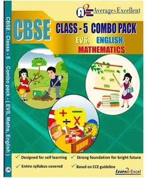 Average2excellent CBSE Class 5 Combo Pack - English EVS Mathematics