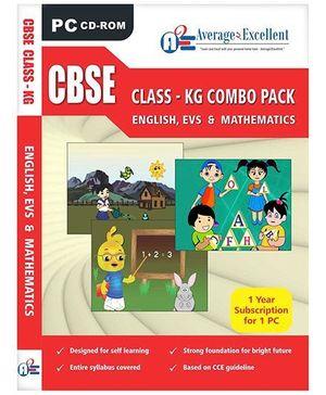 Average2Excellent CD CBSE Class - KG Combo Pack