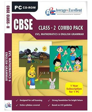 Average2Excellent CD CBSE Class - 2 Combo Pack