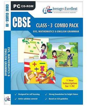 Average2Excellent CD CBSE Class - 3 Combo Pack