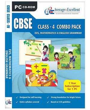 Average2Excellent CD CBSE Class - 4 Combo Pack