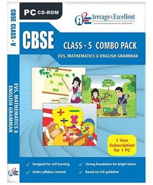 Average2Excellent CD CBSE Class - 5 Combo Pack