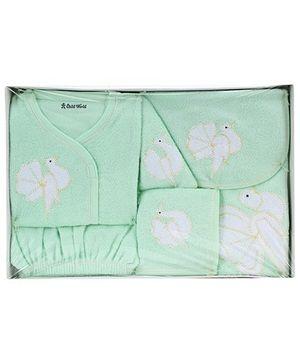 Child World Baby Clothing Gift Box Bird Design - Green