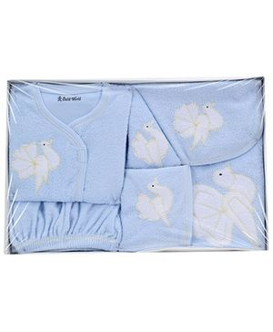 Child World Baby Clothing Gift Box Bird Design - Sky Blue