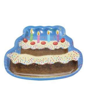 Archies Party Time Paper Plate - Cake With Candles