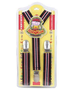 Fab N Funky Red N Black Stripes Suspender Belt