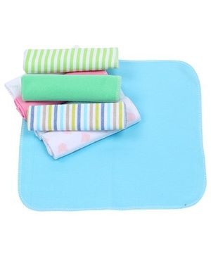 Multicolor Wash Cloth Blue - Pack of 8