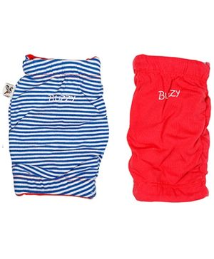 Buzzy Cotton Reversible Knee pad - Red