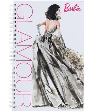 Barbie Spiral Binding Glamour Print Note Book - 160 Pages