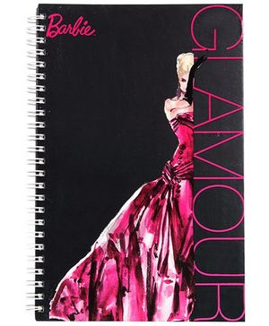 Barbie Spiral Binding Black Glamour Print Note Book - 160 Pages