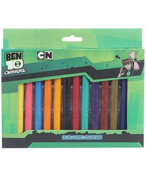 Ben 10 Plastic Crayons - Pack Of 12