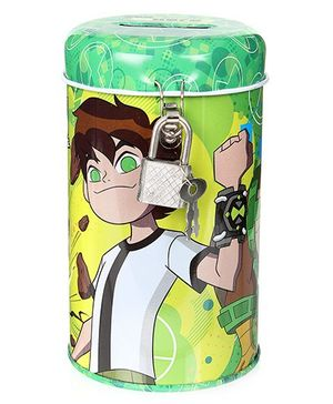 Ben 10 Coin Bank with Lock - Green