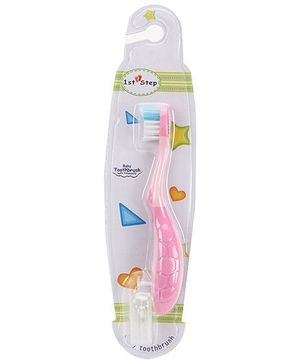 1st Step Kids Toothbrush with Holder - Pink