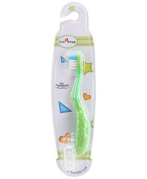 1st Step Kids Toothbrush with Holder - Green
