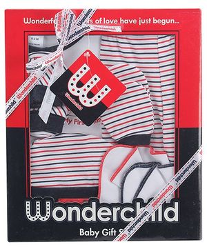 1st Step Baby Gift Set 7 Pieces - Stripes Print