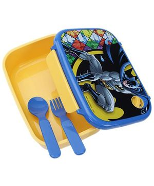 Batman  Lunch Box with Spoon - Yellow