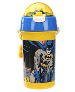 Batman Sipper Water Bottle Blue And Yellow - 500 ml