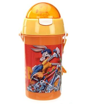 Bugs Bunny Orange Sipper Water Bottle - 500 ml