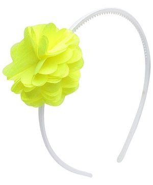 Fab N Funky White Handband with Flower