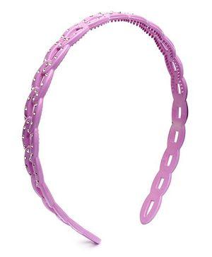 Fab N Funky Voilet Chain Design Hair Band