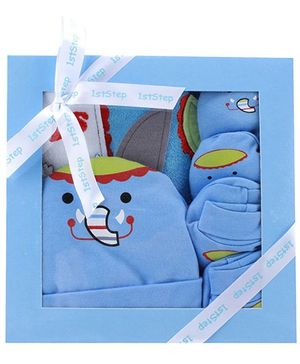1st Step Blue Elephant Design Baby Gift Set - Pack Of 4