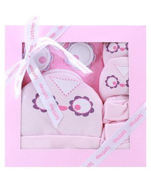 1st Step Pink Chick Design Baby Gift Set - Pack Of 4