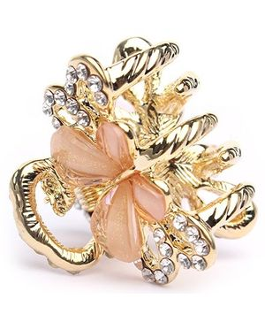 Fab N Funky Stones Studded Butterfly Hair Clip - Golden