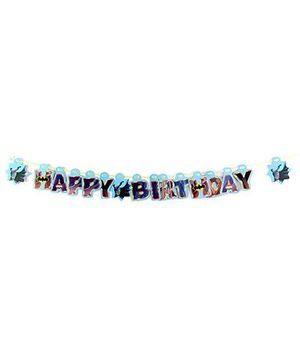 Batman Happy Birthday Banner - 16 Pieces