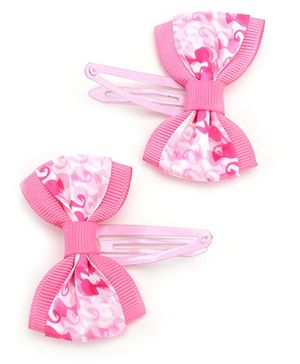 Barbie Pink Snap Clips With Bow
