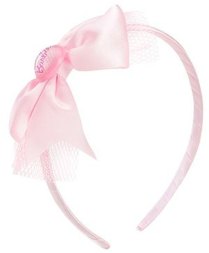 Barbie Light Pink Hair Band With Bow Embellishment