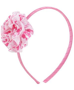 Barbie Pink Hair Band With Flower Embellishment