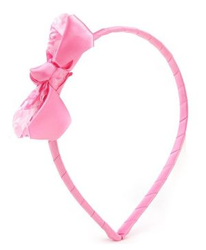 Barbie Pink Hair Band With Bow Embellishment