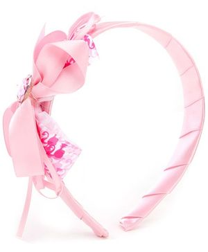 Barbie Pink Ribbon Multi Frills Hair Band