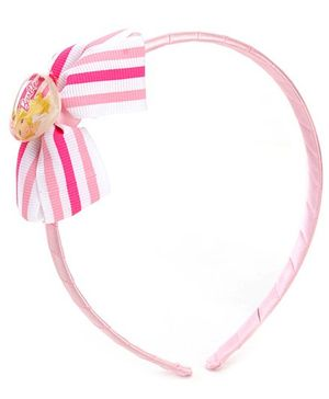 Barbie Pink Hair Band With Stripped Bow