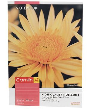 Camlin Single Line Notebook Chrysanthemum Print - 144 Pages