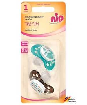 nip Trendy Silicone Soothers - Pack Of 2