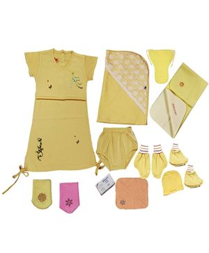 Jo Kidswear Clothing Gift Set With Soap - Yellow