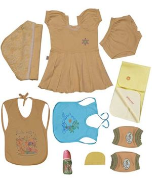 JO Kidswear Clothing Gift Set With Cap - Yellow