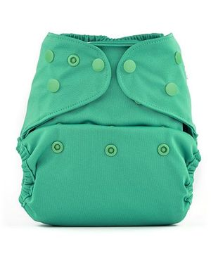 Bumberry Cloth Diaper Cover With One Bamboo Insert - Blue Green