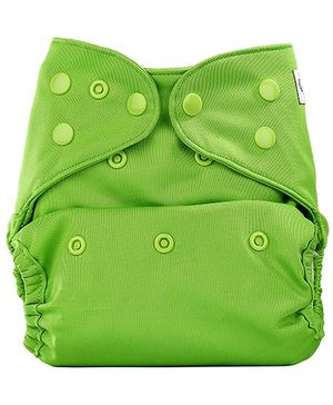 Bumberry Cloth Diaper Cover With One Bamboo Insert - Deep Green